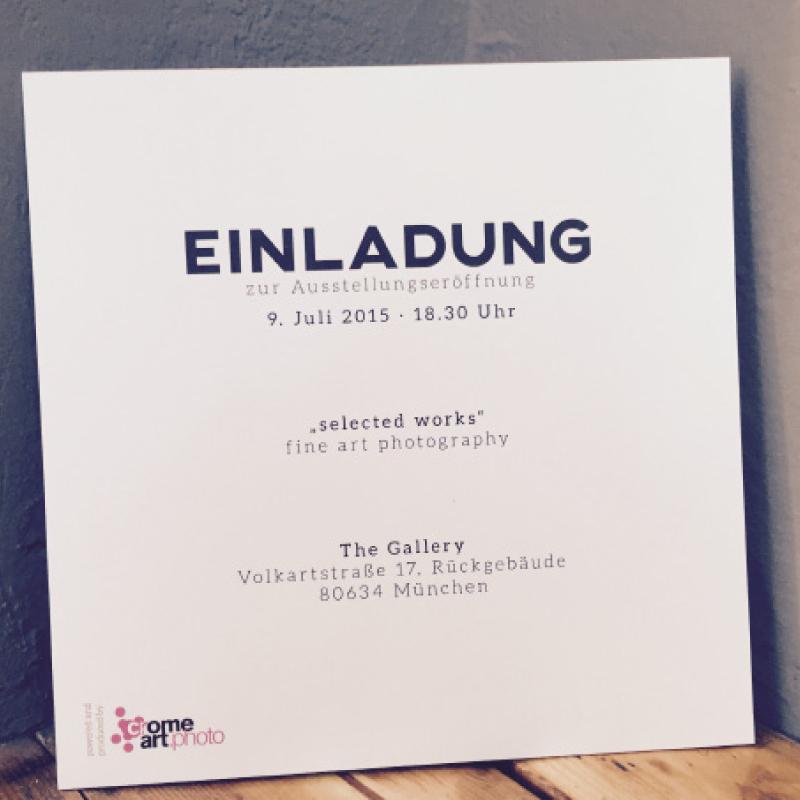 """Rückseite der Einladung zur Ausstellung """"selected works"""" von Ingo Robin."""